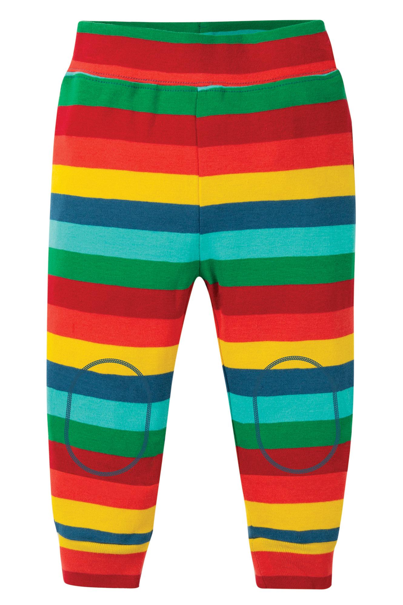 Frugi - favourite cuffed legging - multi stripe