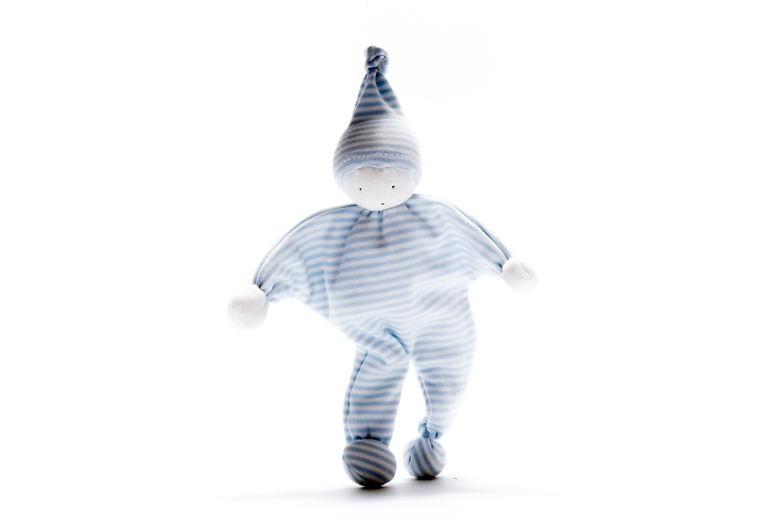 Under the Nile - Organic Baby Buddy –Pale blue stripe