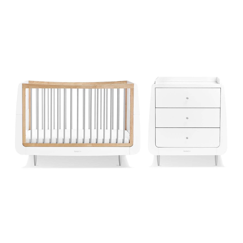 SnuzKot Skandi 2 Piece Nursery Furniture Set - Grey (SAVE £50)