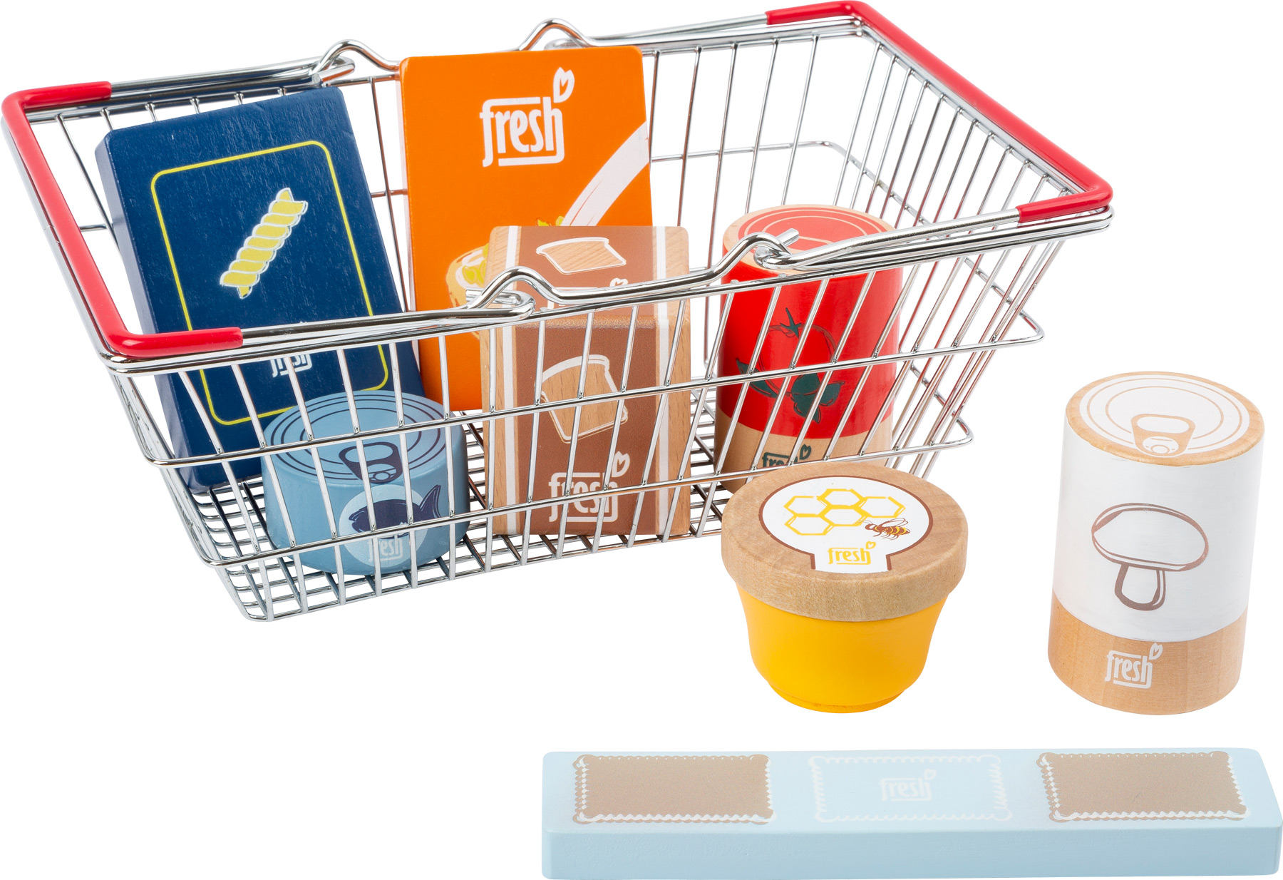 Small foot - groceries set in shopping basket