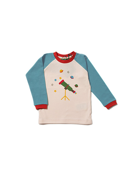 Little Green Radicals - Star Gazer Blue Raglan Top