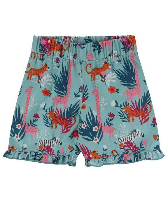 Sale - Lilly + Sid - Frill Hem Short - Safari