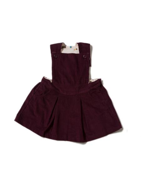 Little Green Radicals - Plum Pinafore Dress