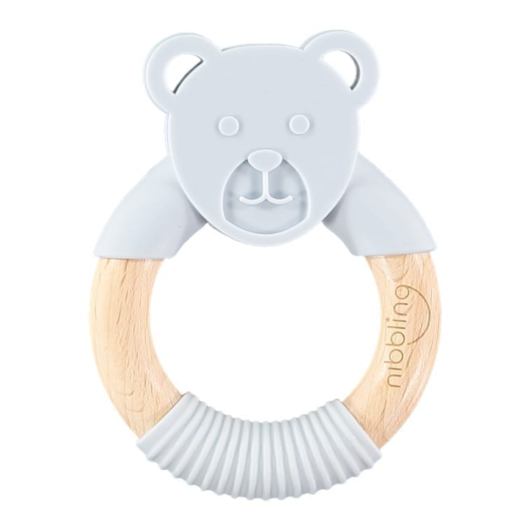 Nibbling - Ted Bear Forest Friends Teething toy  - Grey