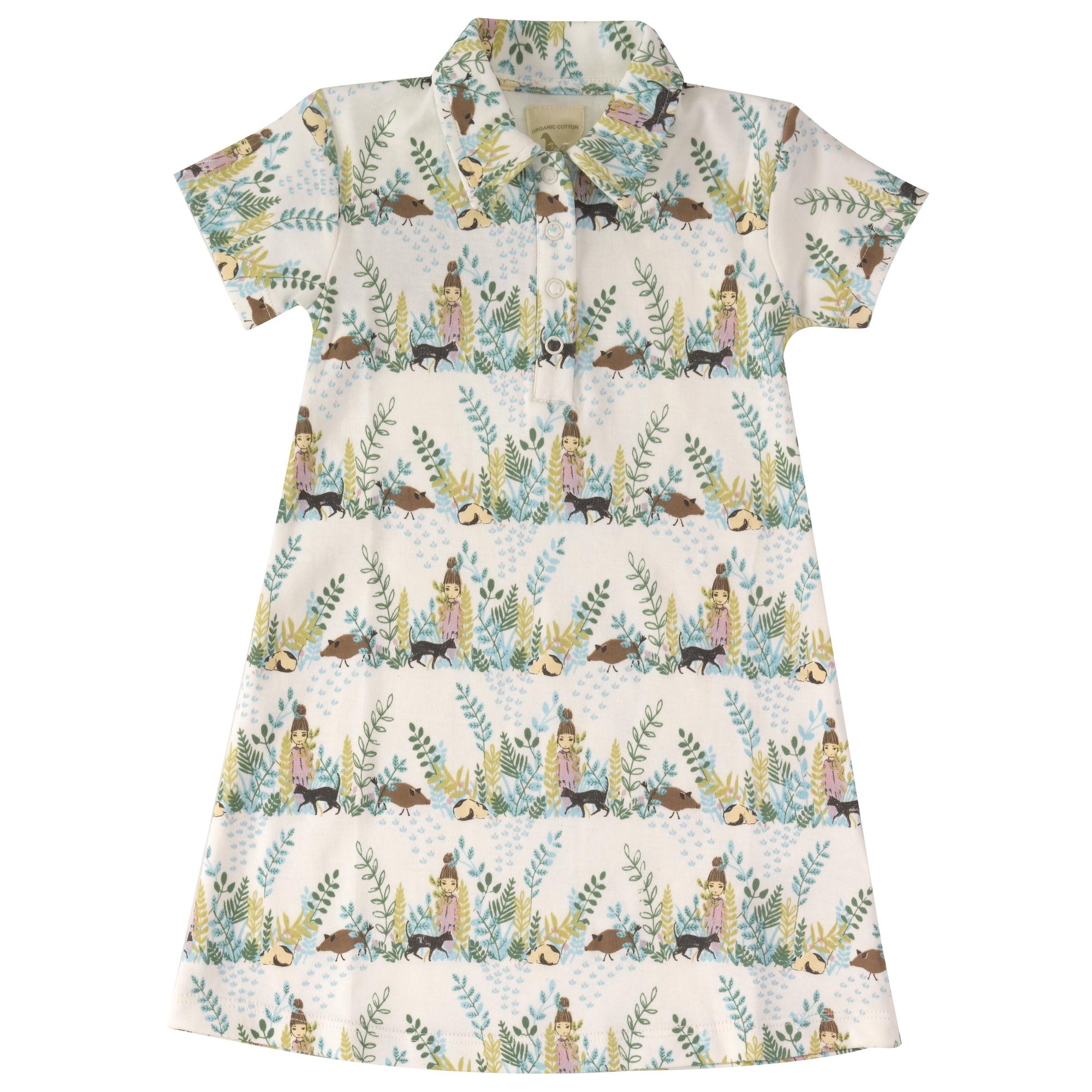 Pigeon-Casual jersey dress-Secret Garden- 2-3 years