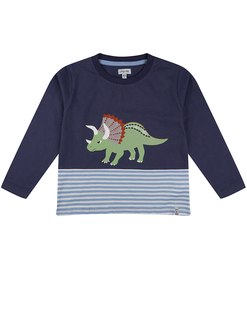 New - Lilly + Sid - Triceratops Cut and sew Top