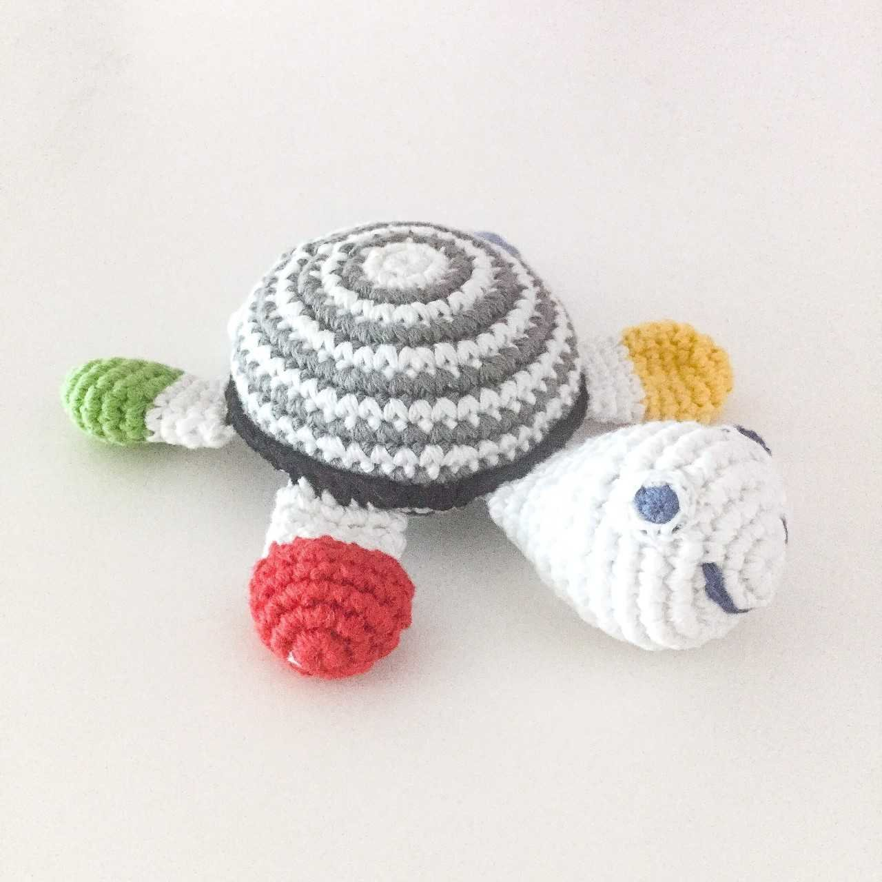 pebble-Crochet Turtle black/white