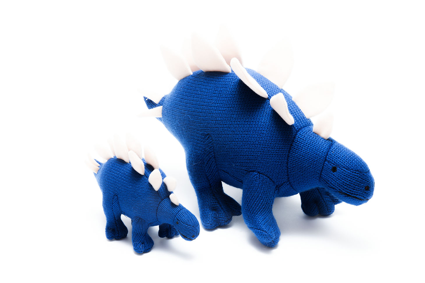 Best Years - Knitted Medium Toy - Stegosaurus - Blue