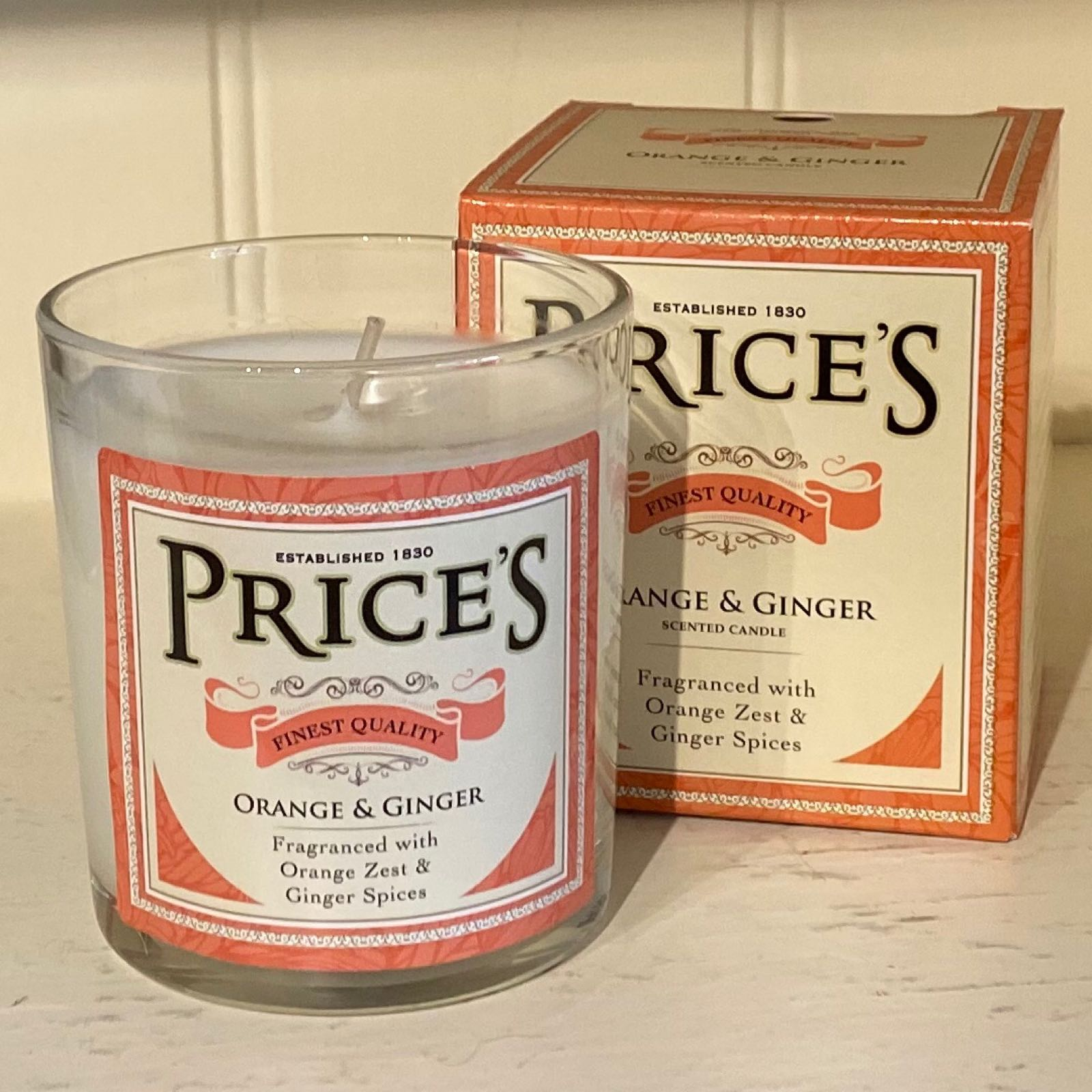 'Orange & Ginger' Heritage Candle (Was £8.50)
