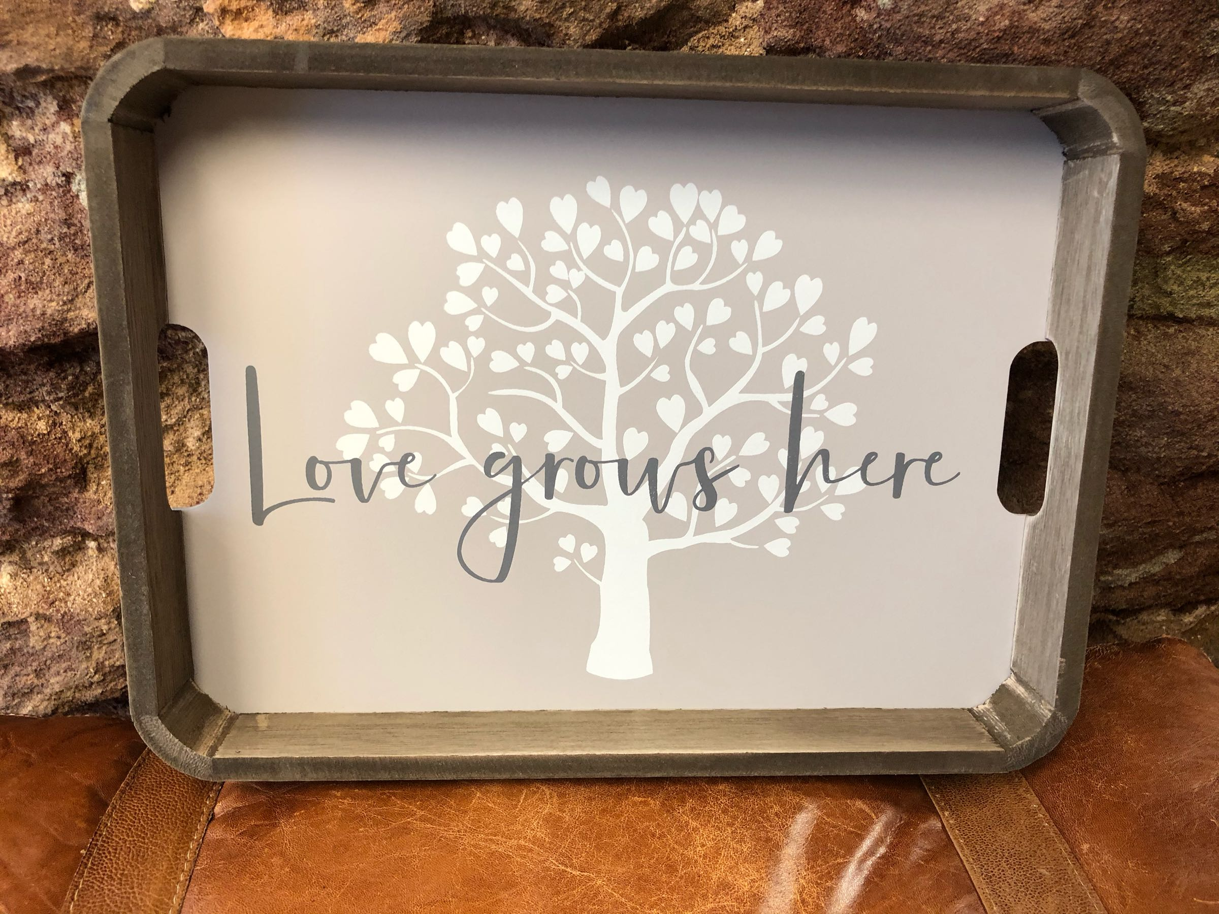 Love grows here tray