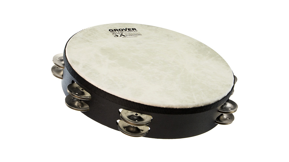 "Grover Pro Percussion 10"" SX™ Tambourine German Silver"