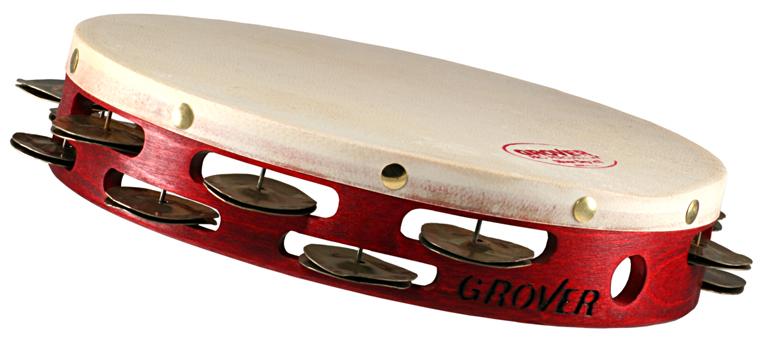 """Grover Pro Percussion 8"""" Custom Dry Tambourine, Silver"""