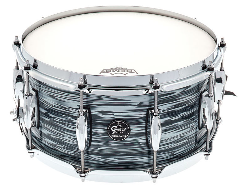 """Gretsch Renown Maple 14"""" x 5"""" Snare, Silver Oyster Pearl"""