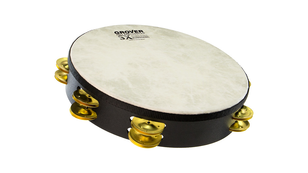 "Grover Pro Percussion 10"" SX™ Tambourine Brass"