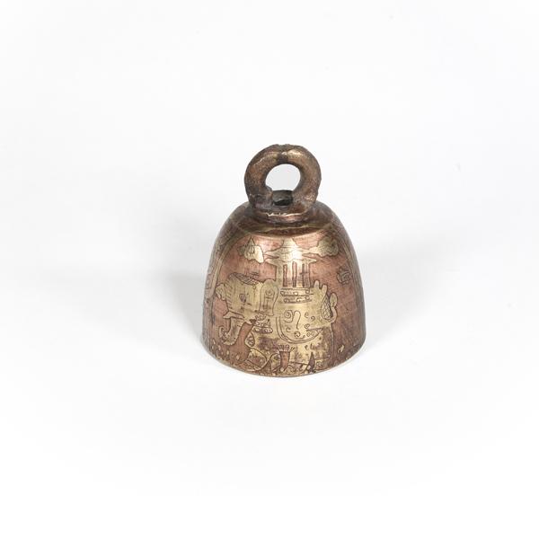 Burmese Bell Decorated, 4cm