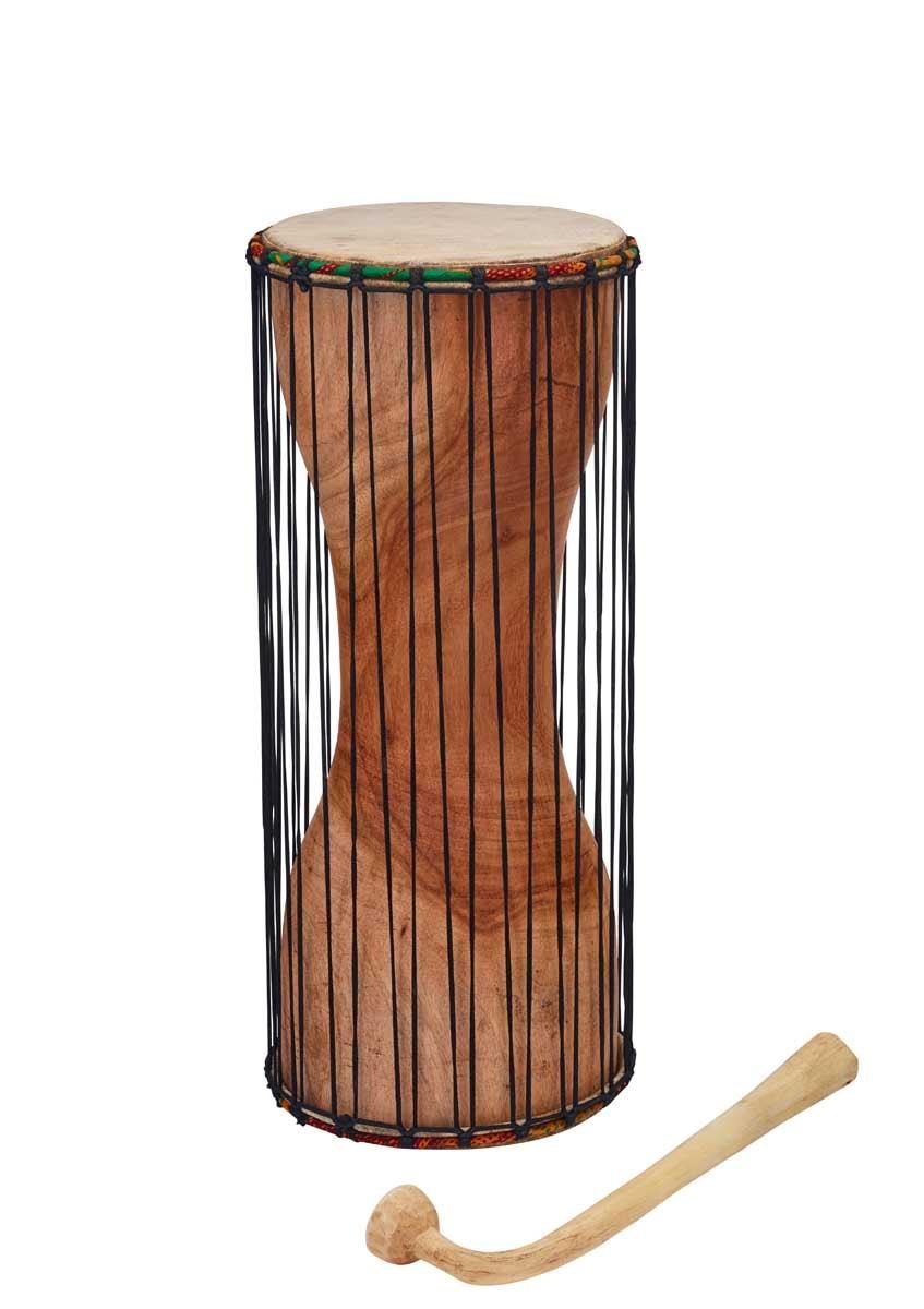 Dondo, talking drum, Ø 15cm, H 35cm, incl. mallet