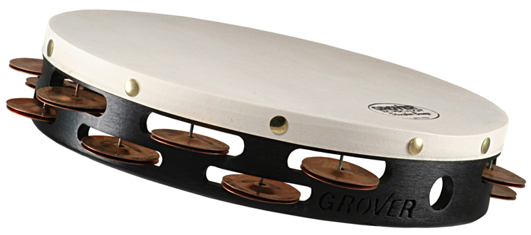 "Grover Pro Percussion 10"" Projection-Plus™ Tambourine Phosphor Bronze"