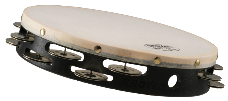 """Grover Pro Percussion 8"""" Projection Plus Tambourine, German Silver"""