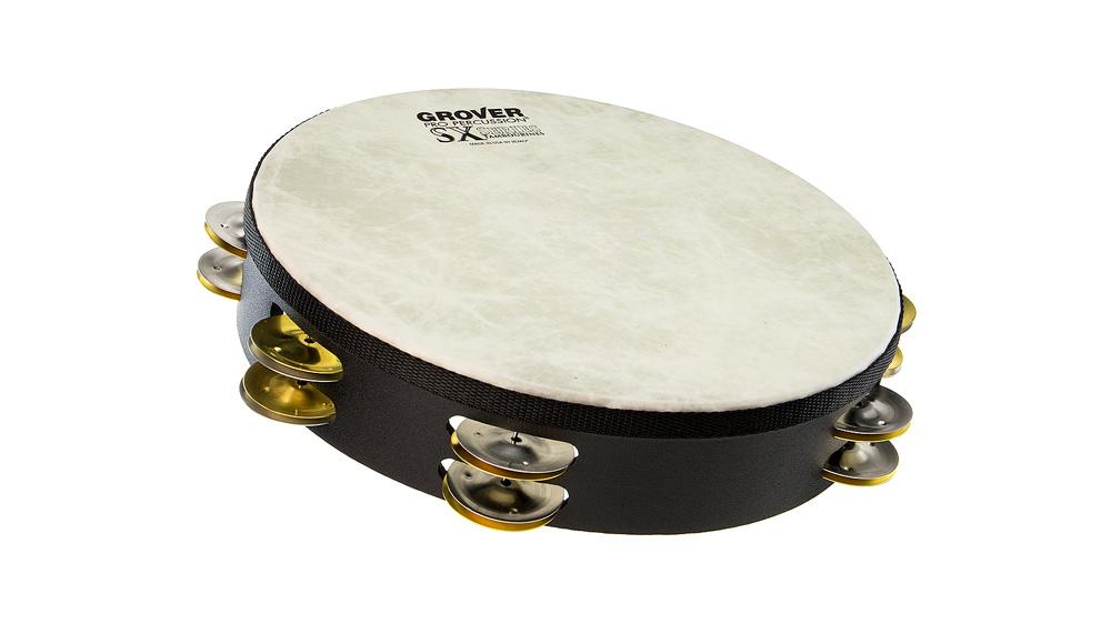 """Grover Pro Percussion 10"""" SX™ Tambourine Silver/Brass"""