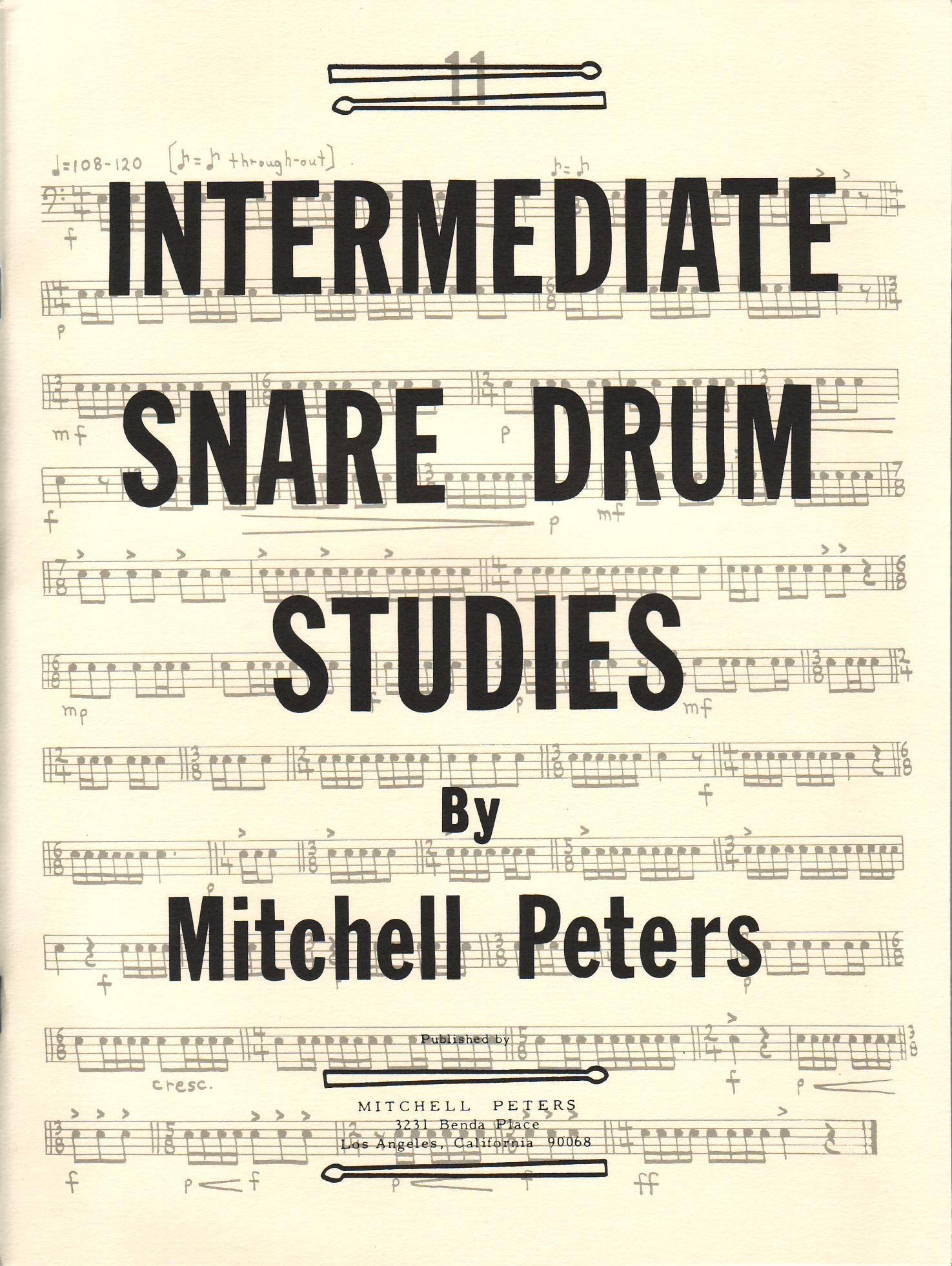 Peters, Mitchell: Intermediate Snare Drum Studies