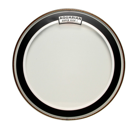 "Aquarian 22"" Super Kick Clear Single Ply"