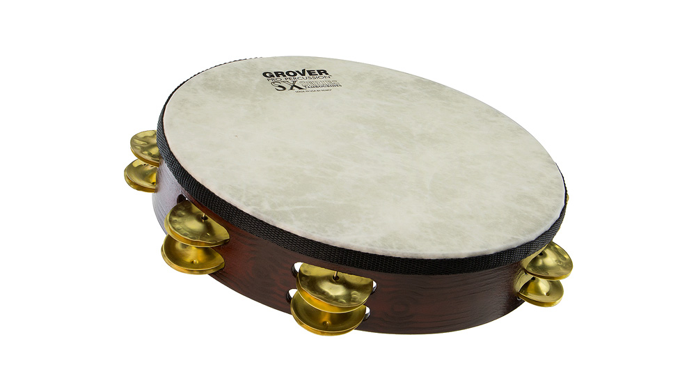 "Grover Pro Percussion 10"" SX Plus™ Tambourine Hammered Brass"