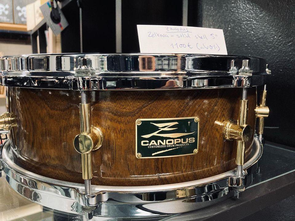 """Canopus Zelkova-Solid Shell 14"""" Snare (Käytetty)"""