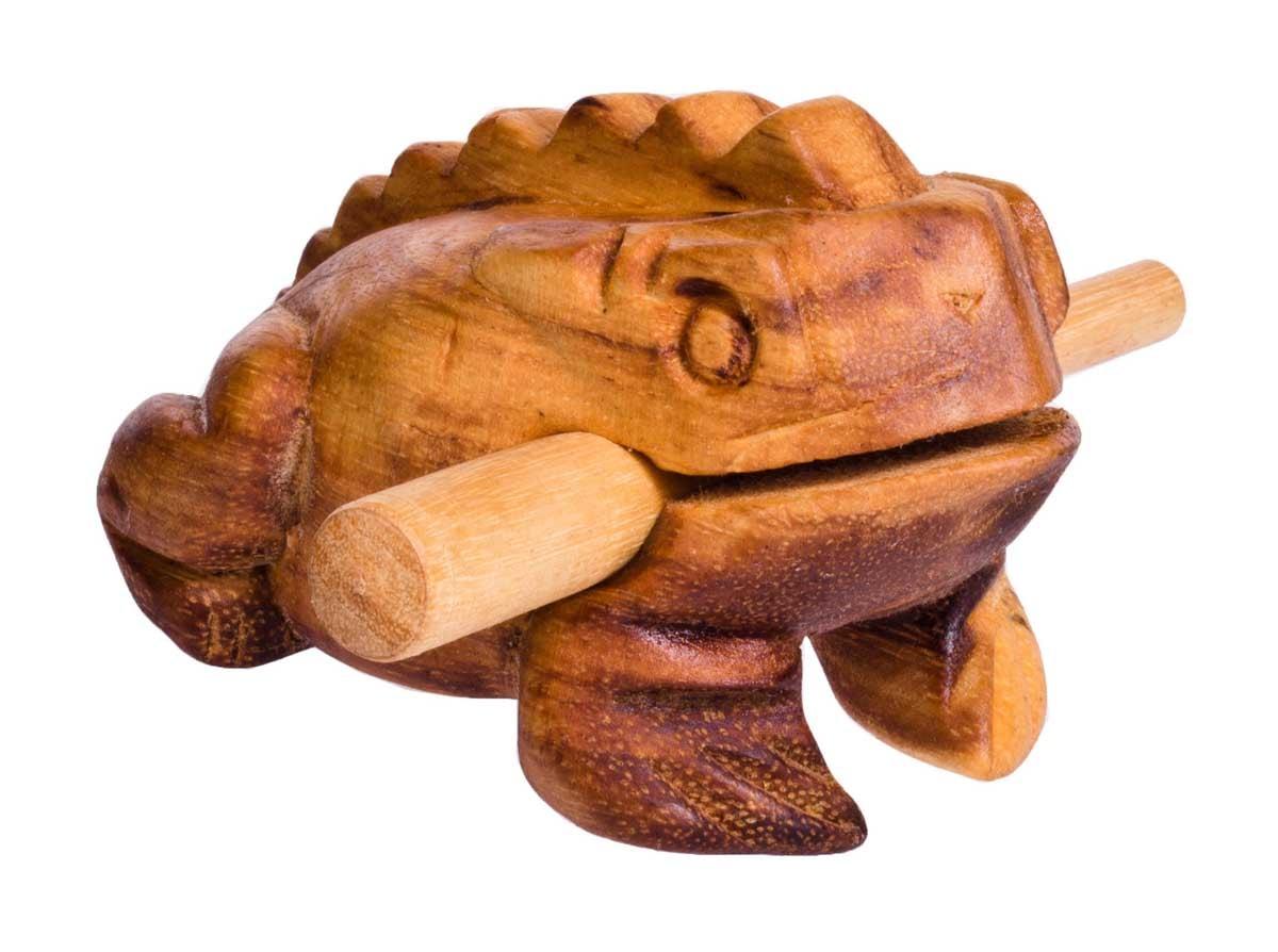Froggy, 11cm, soft-wood scraper