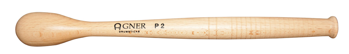 "Agner Drumsticks - ""P2 - Marching Beater "" Beech Wood, PARI"