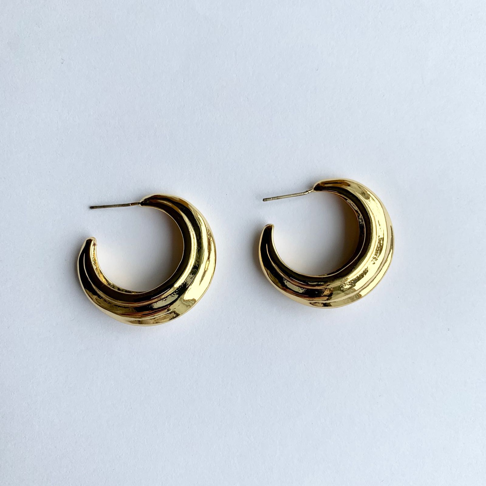 Camille Gold Plated Hoops