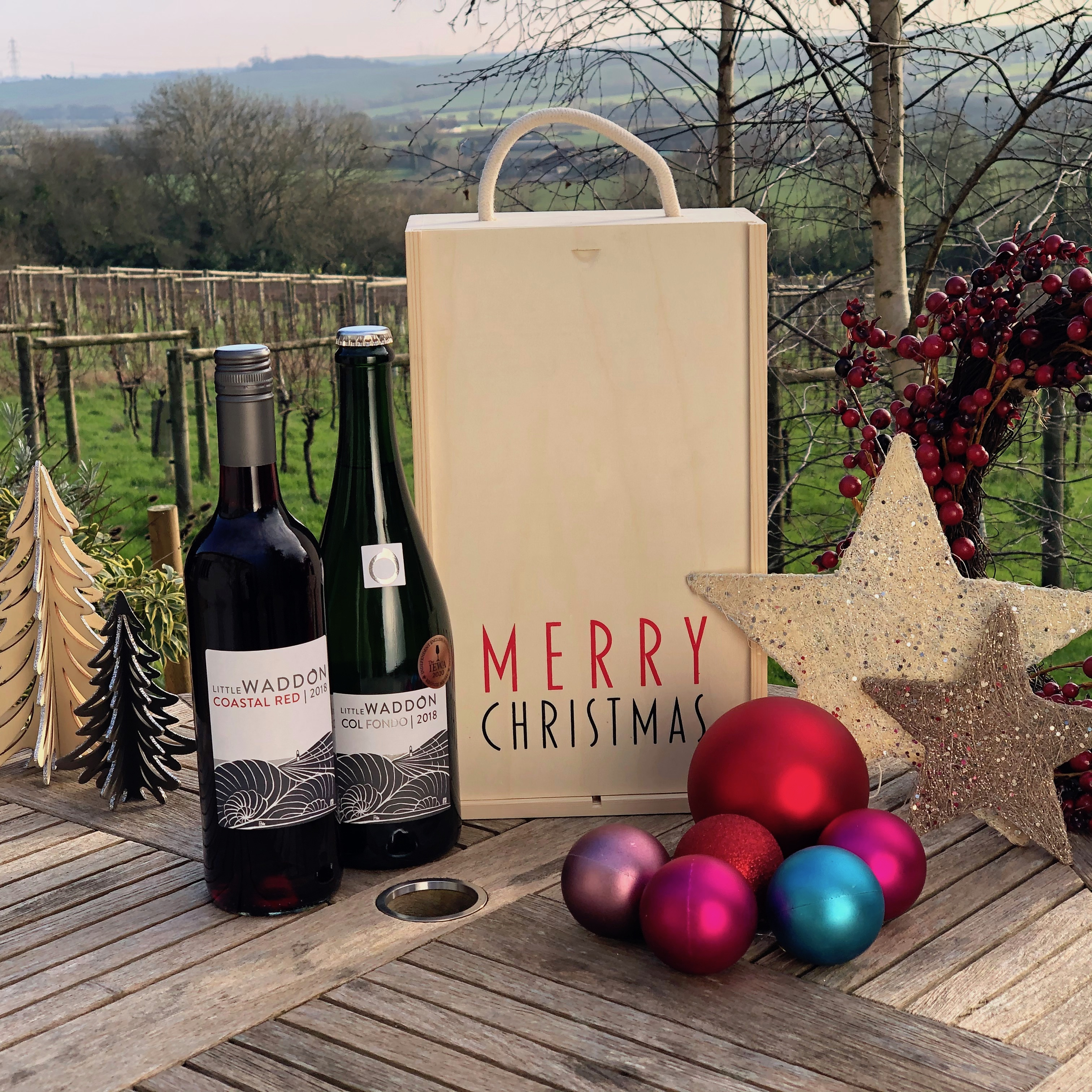 Red & Bubbly Christmas Special - Wine & Gift Box