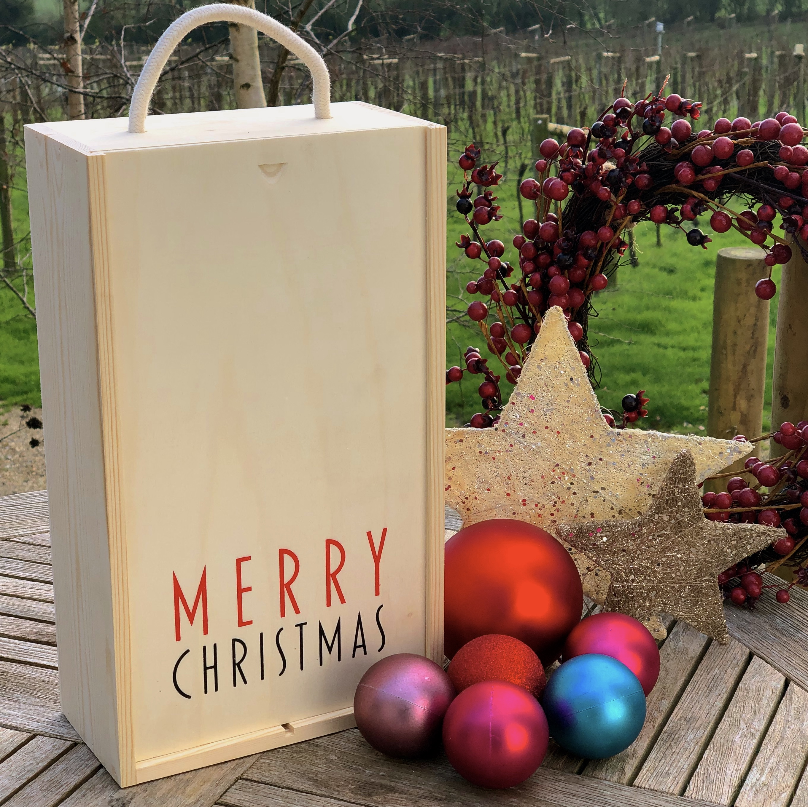 Christmas 2 Bottle presentation box
