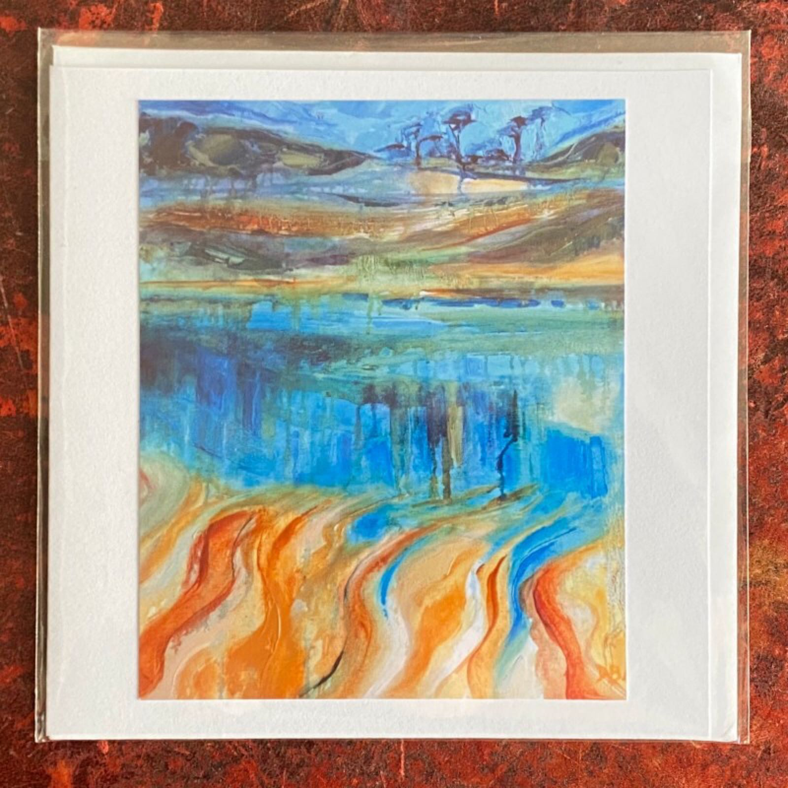 'Looking Across from Wonwell' Diana Booth Card
