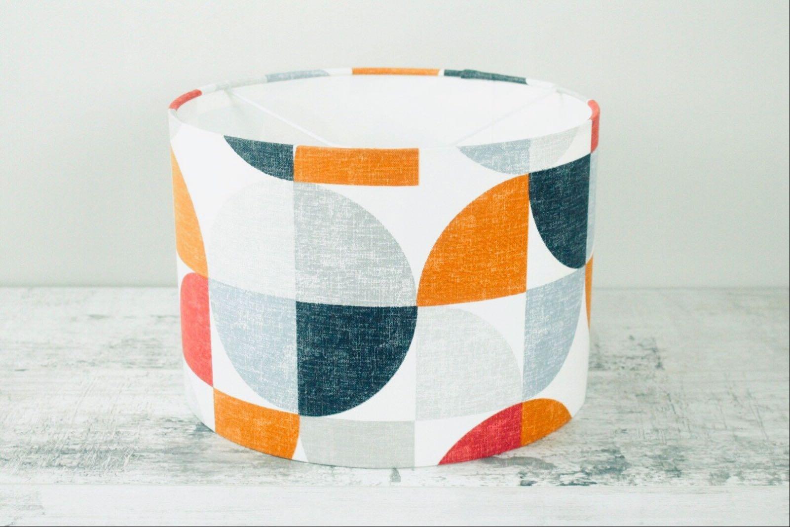 Retro Geometric - 30cm Fabric Lampshade