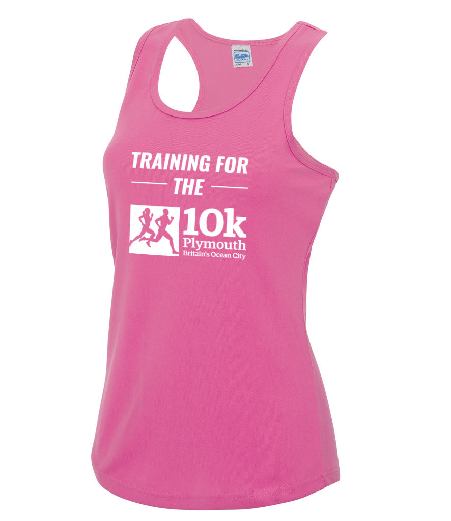 Plymouth 10k Training Vest - Electric Pink
