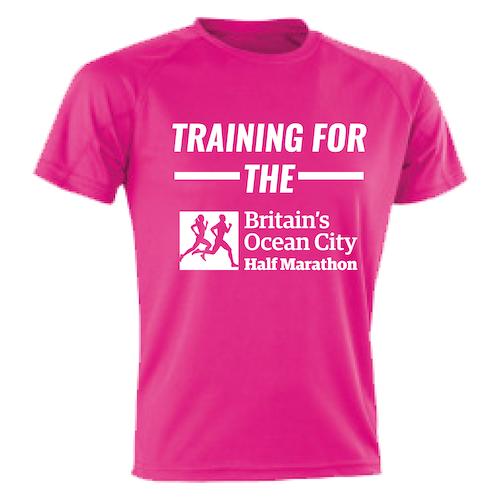 Hot Pink Training For The Half Marathon T-Shirt