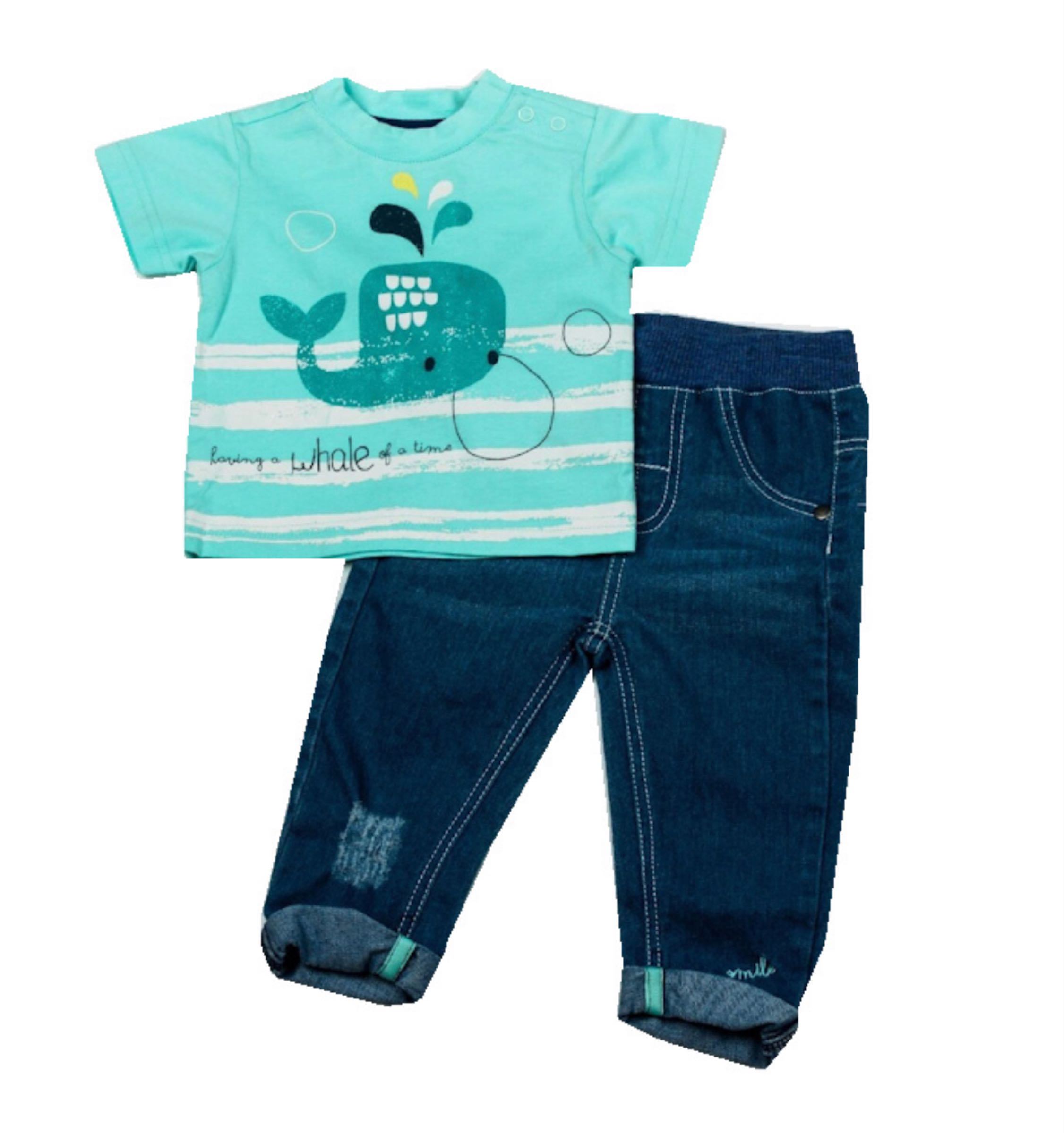 Whale  t shirt and jeans set