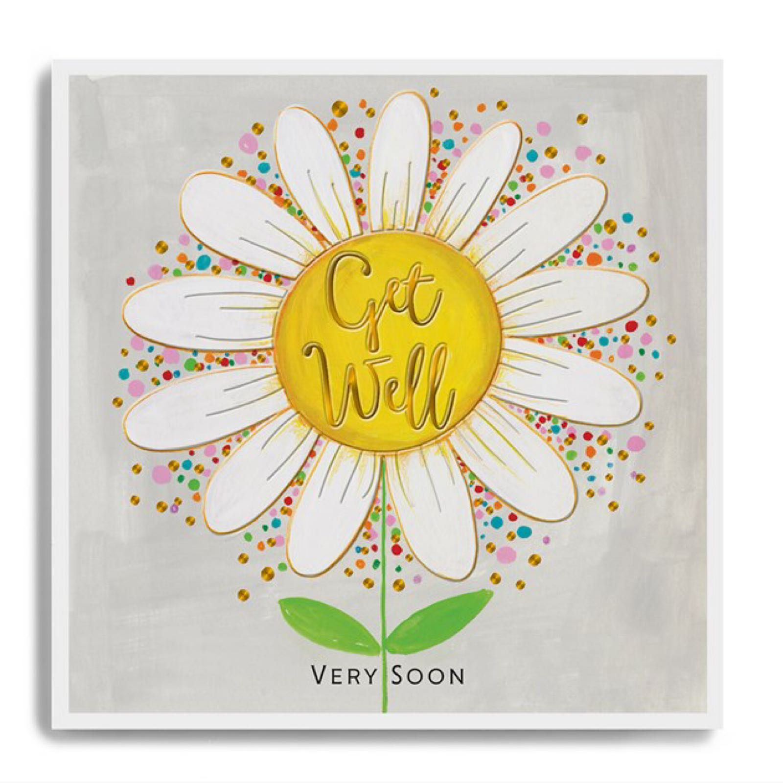 Janie Wilson get well soon daisy card