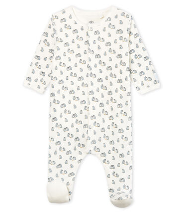 Petit Bateau Velour Penguin Sleepsuit