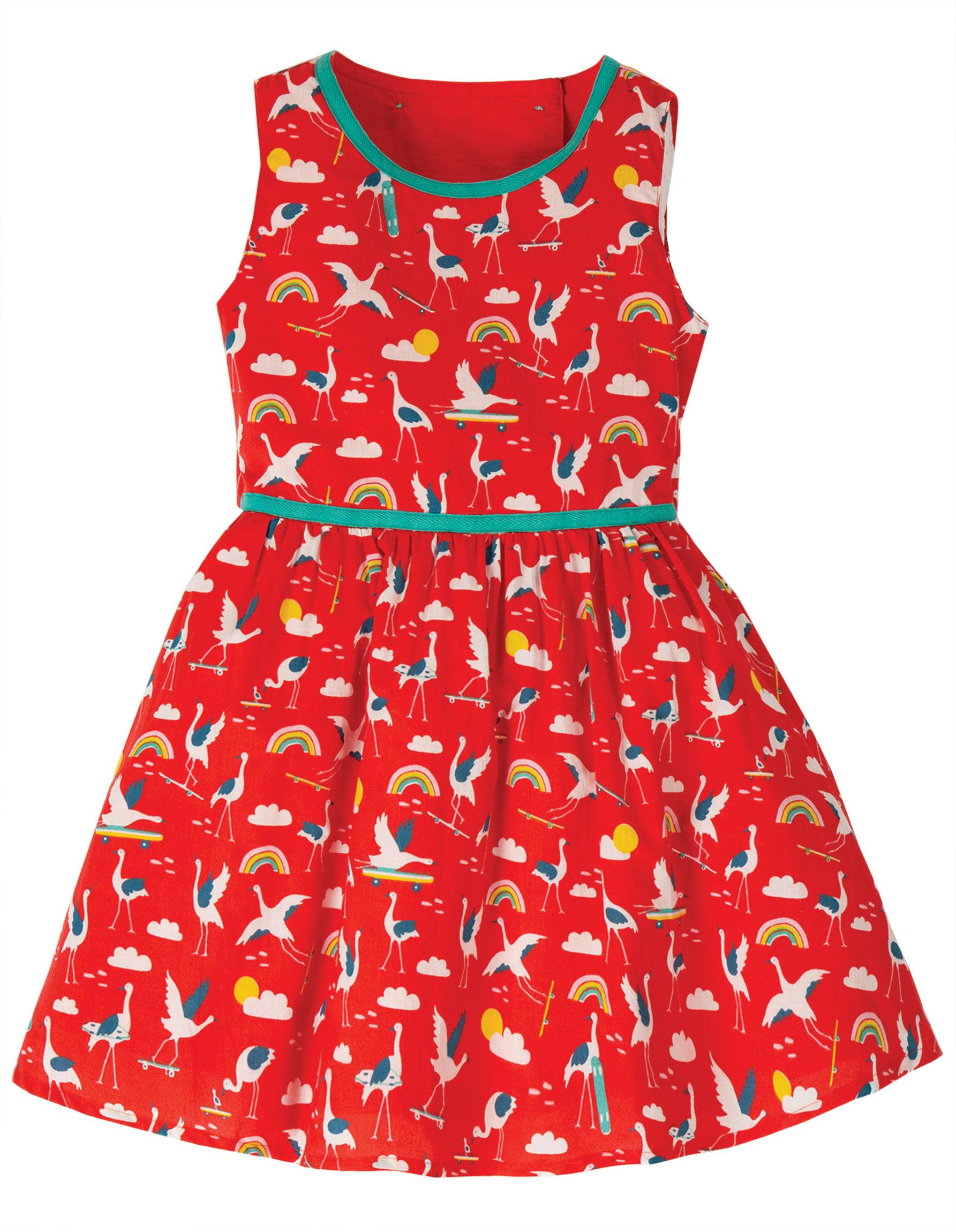 Frugi Immy Woven Dress, Skateboarding Cranes