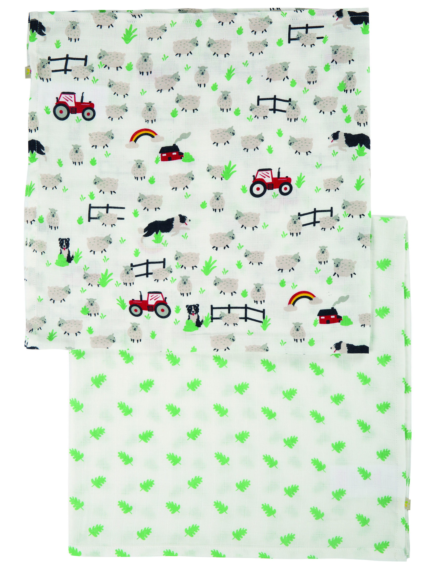 Frugi Lovely 2 Pack Tractor Muslins