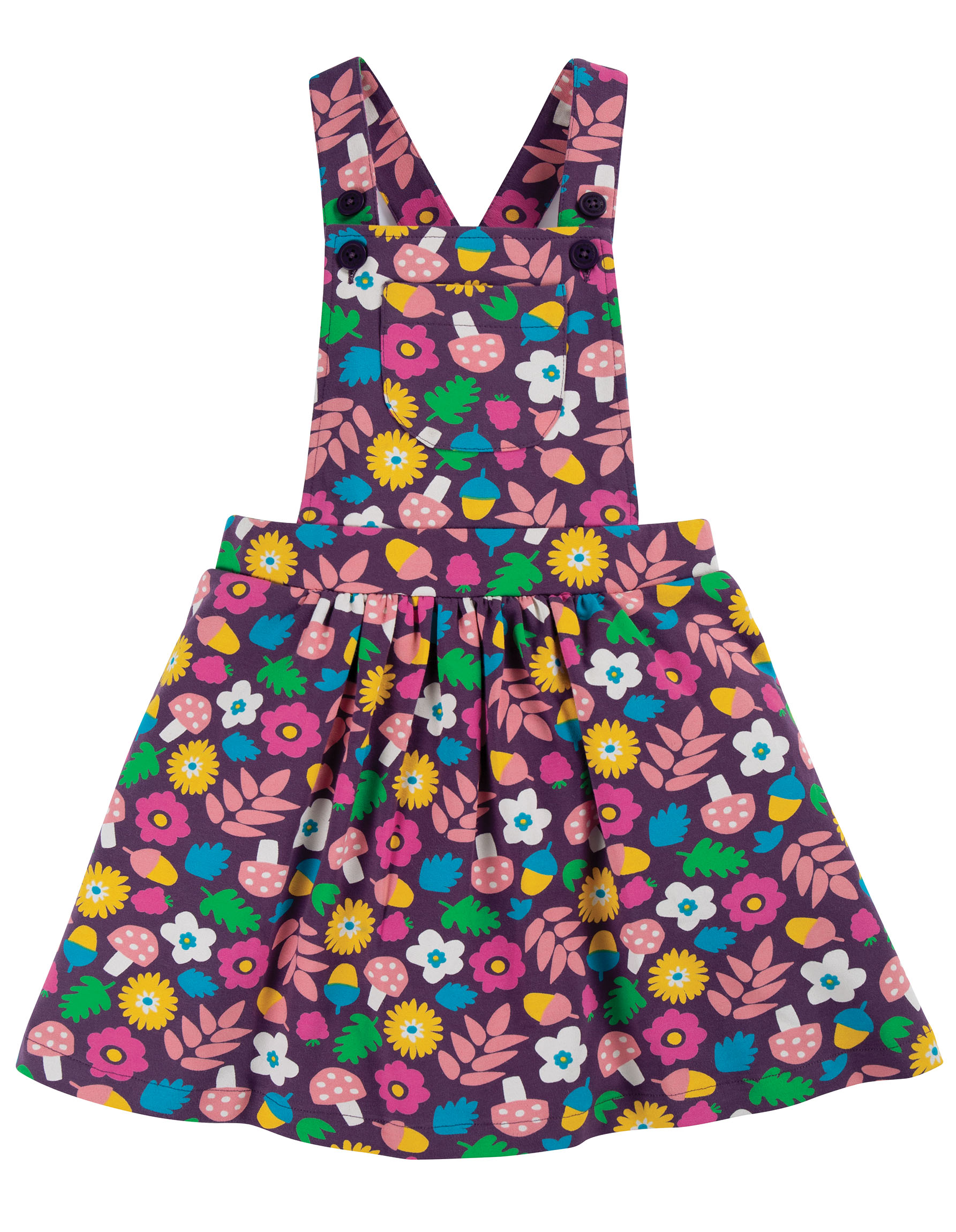 Frugi Pixie Pinafore Aubergine Lost Words