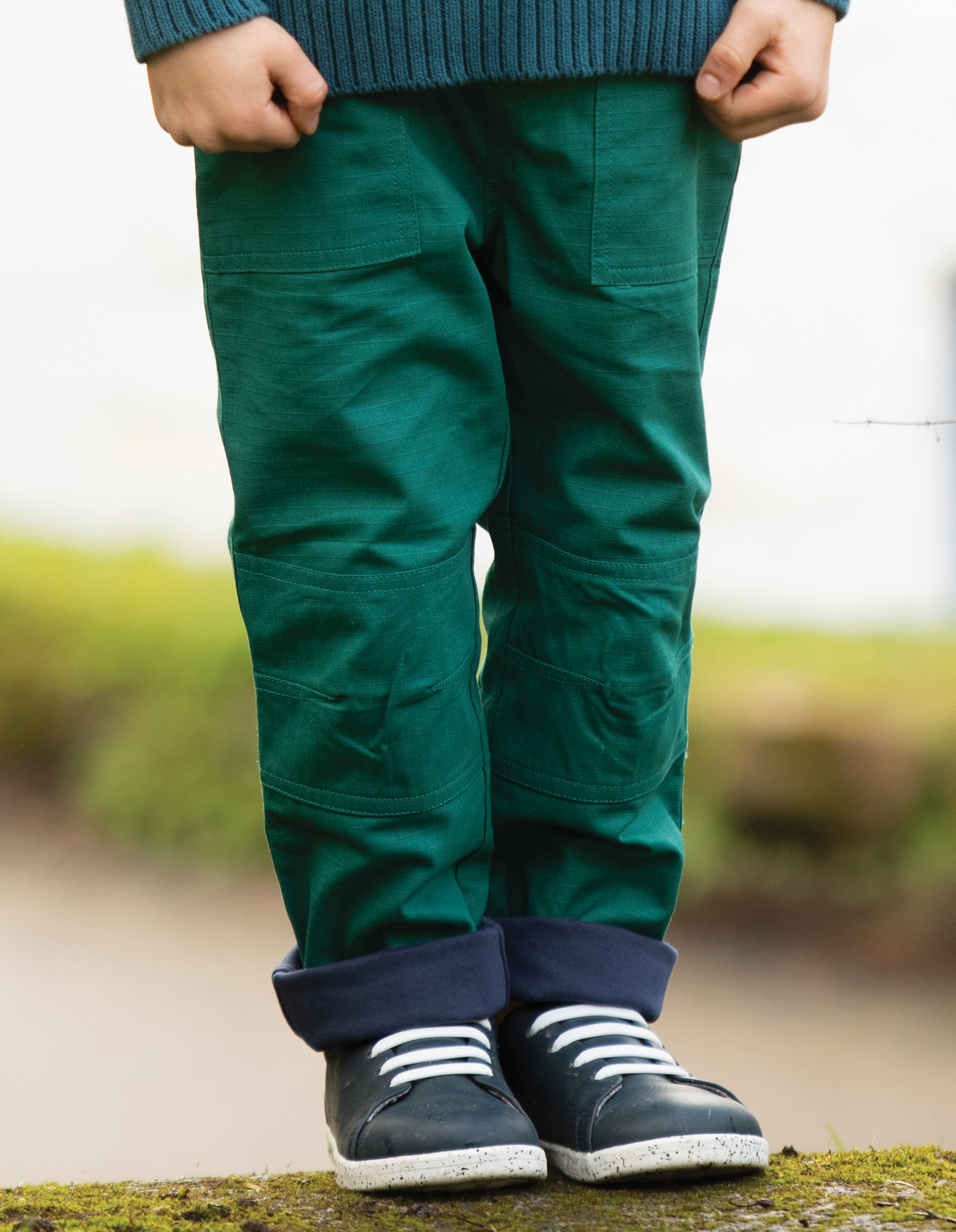 Frugi Ripstop Trousers, Scots Pine