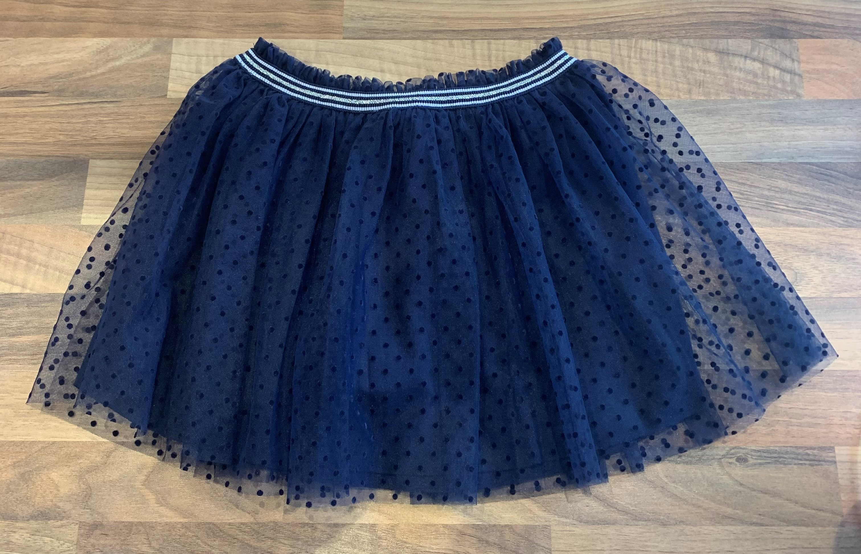 Petit Bateau Navy Net Party Skirt