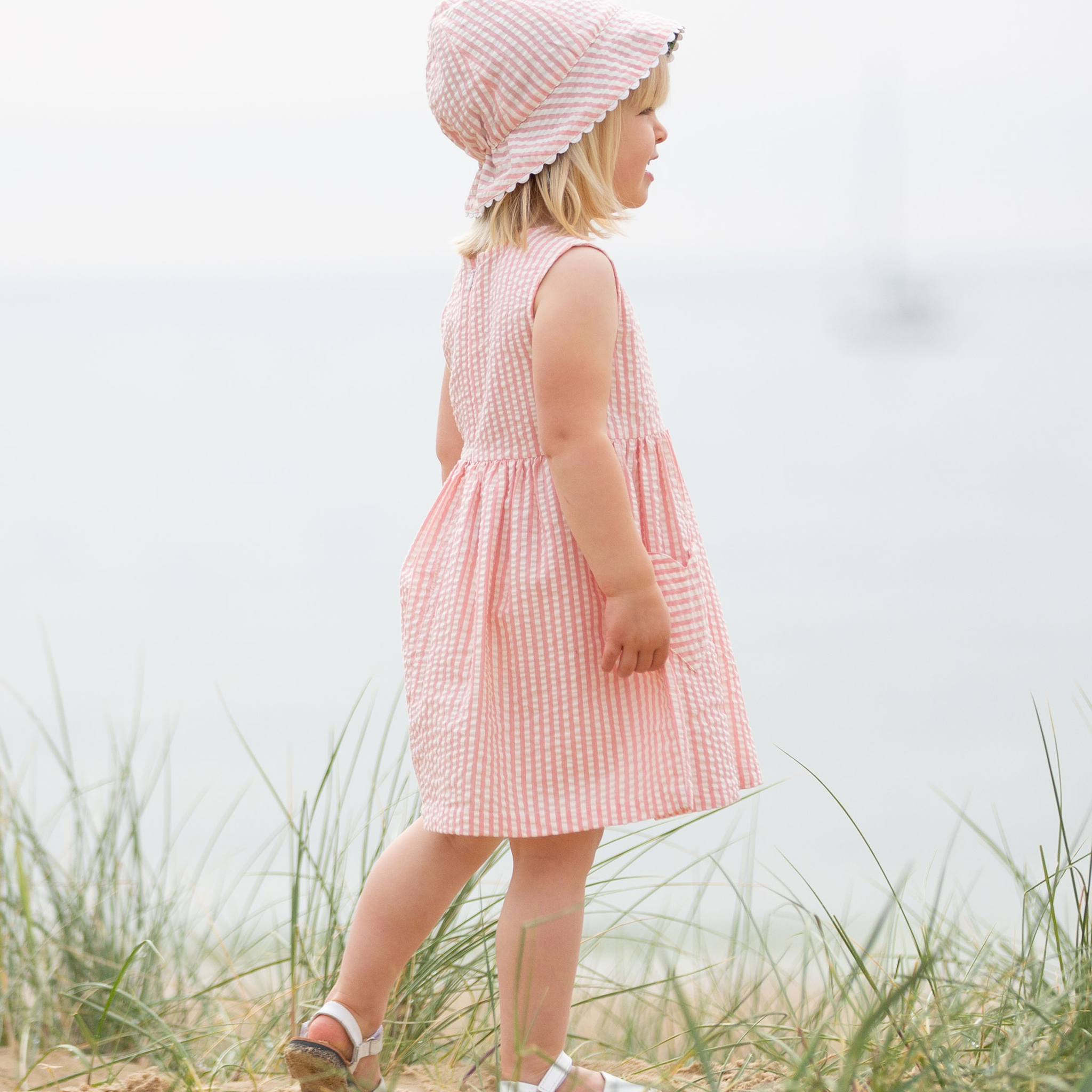 Kite Seersucker Heart Dress