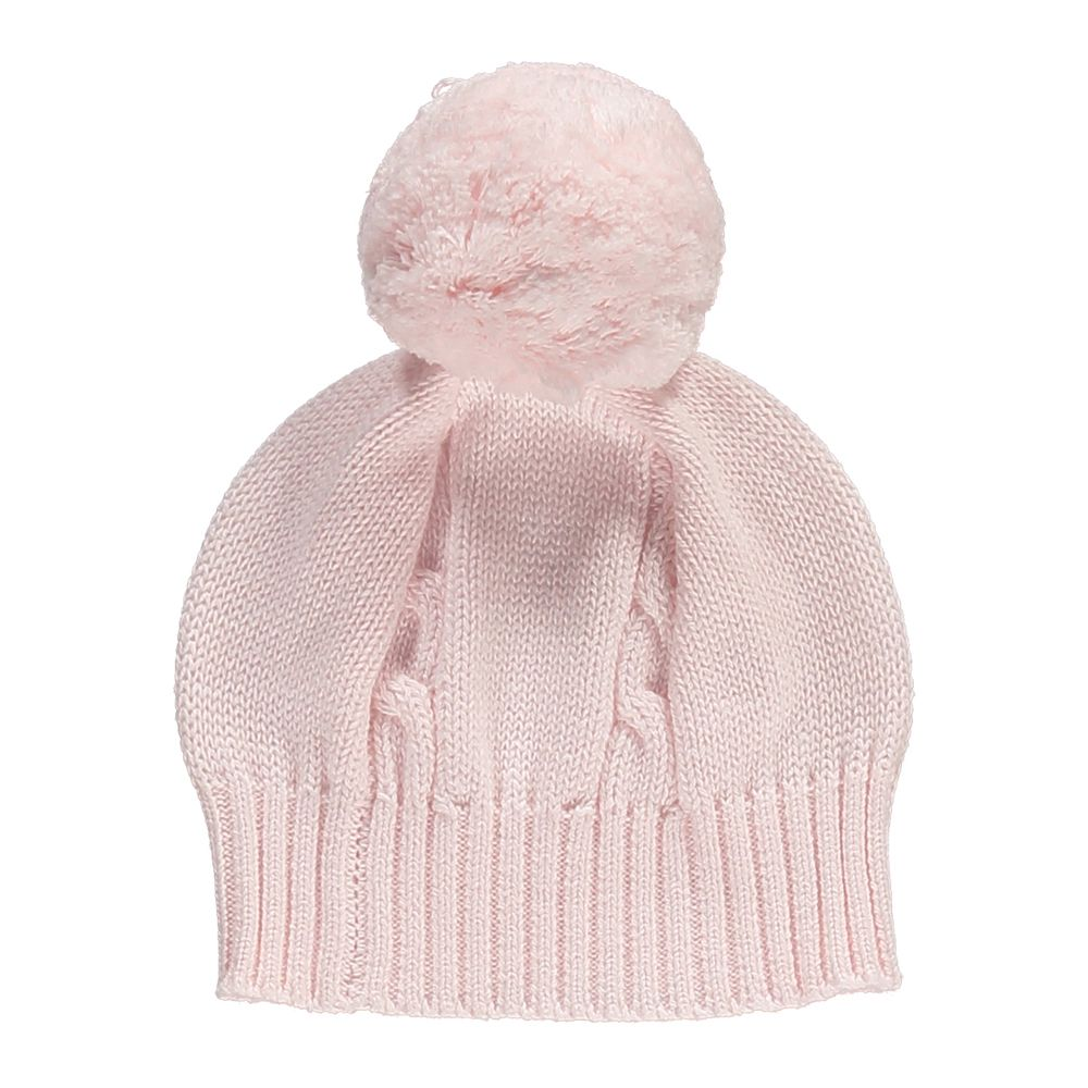 Emile Bobble Hat Pink