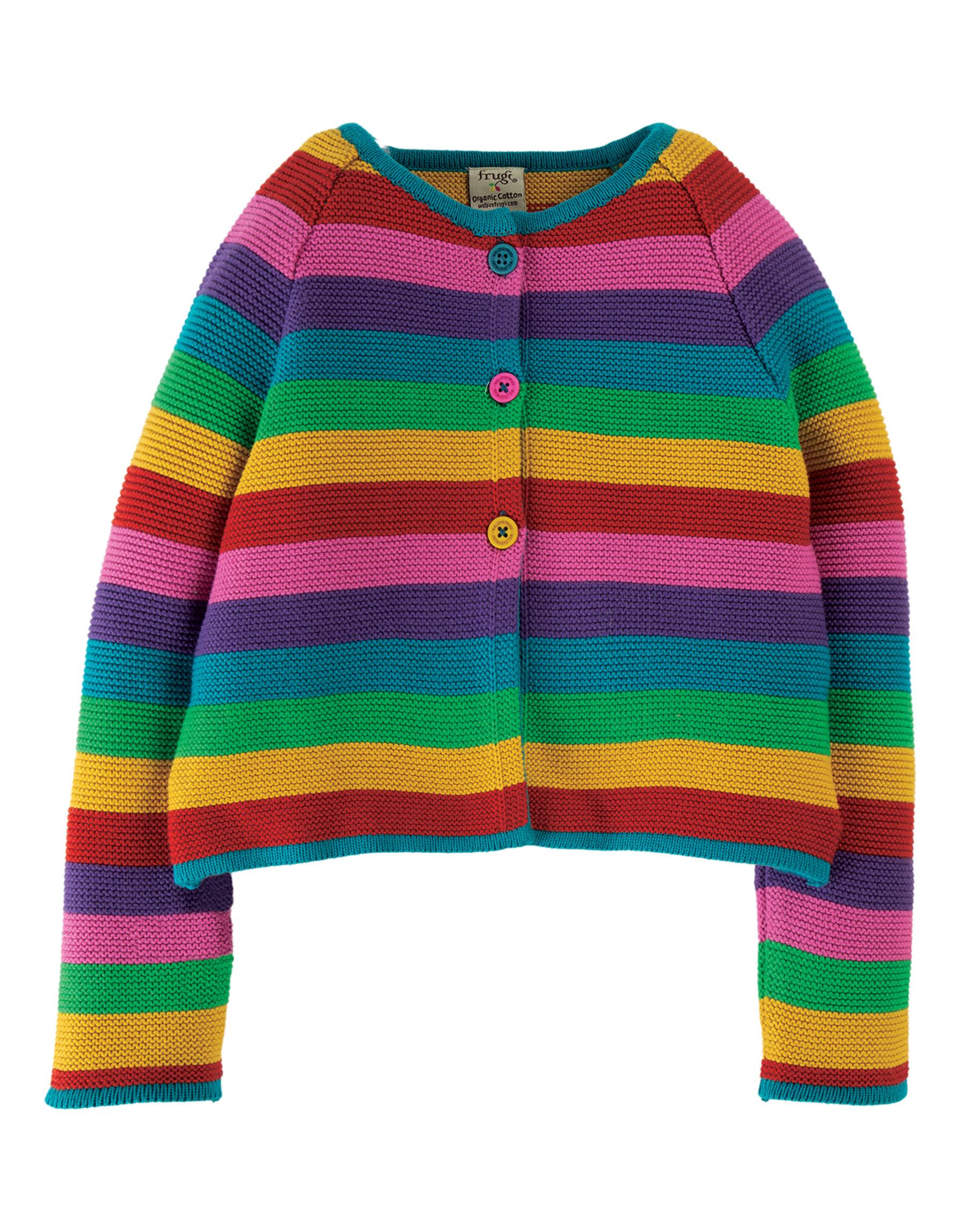 Frugi Rainbow Swing Cardigan