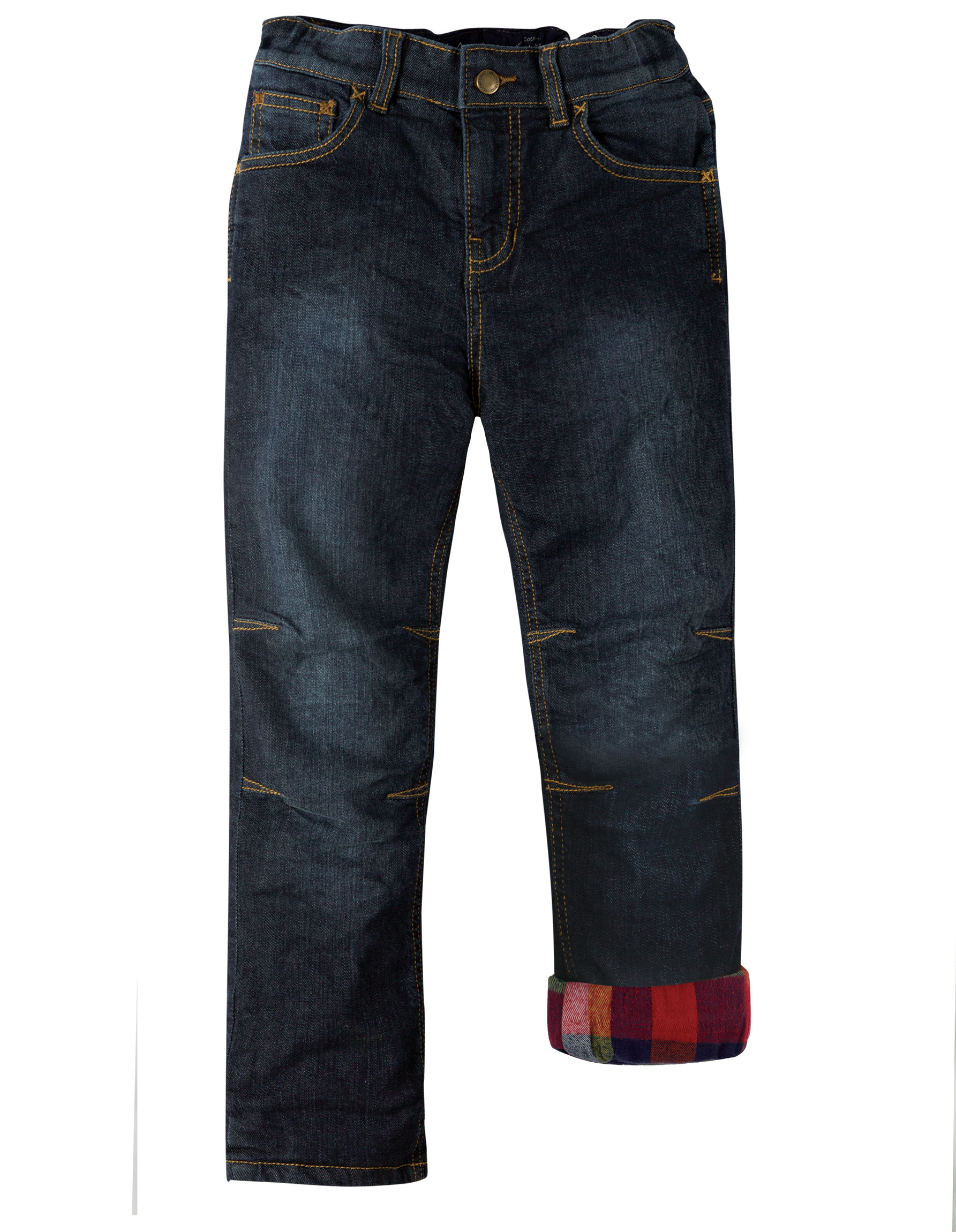 Frugi Lumberjack Lined Jeans, Dark Wash Denim
