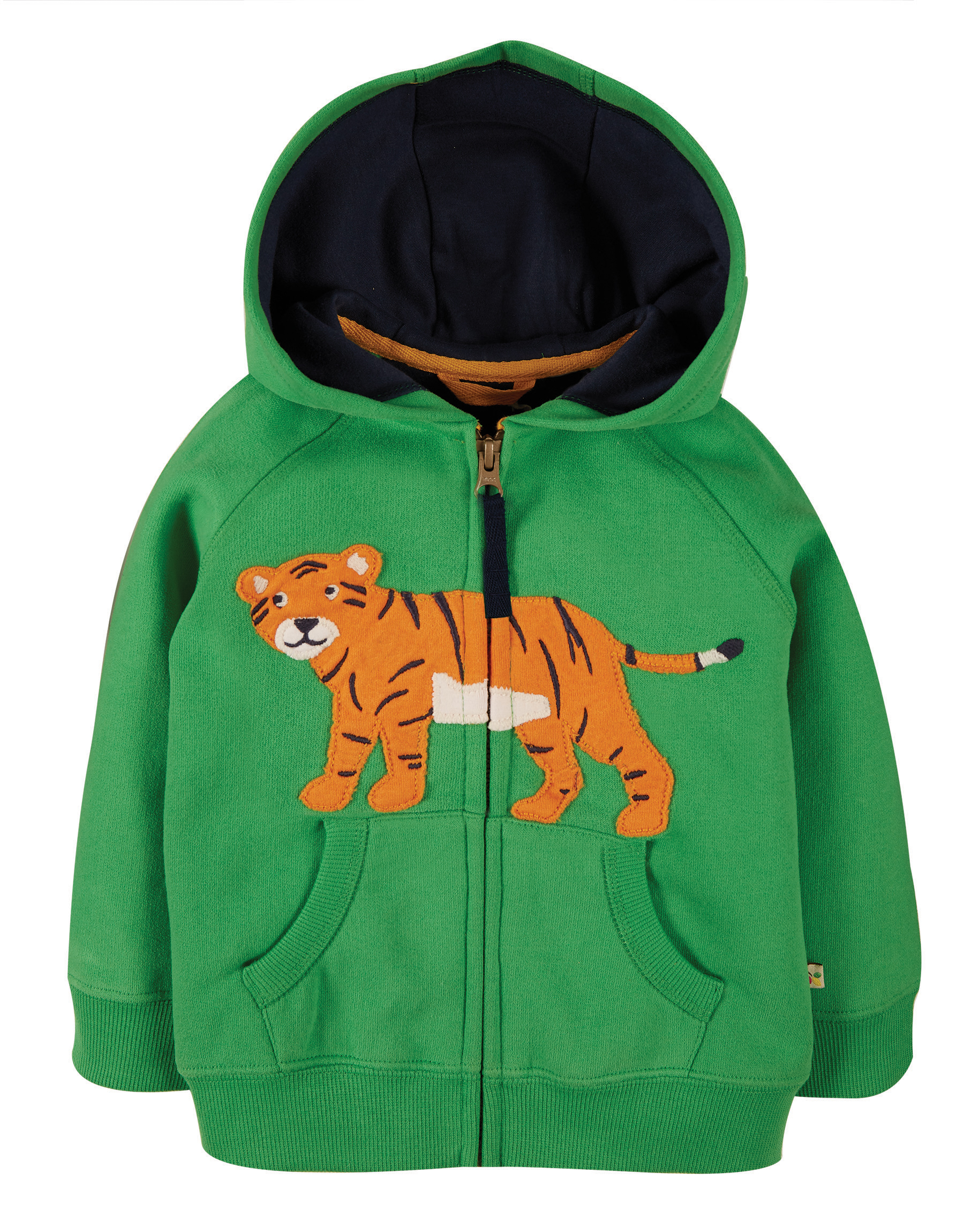 Frugi Hayle Hoody, Glen Green Tiger