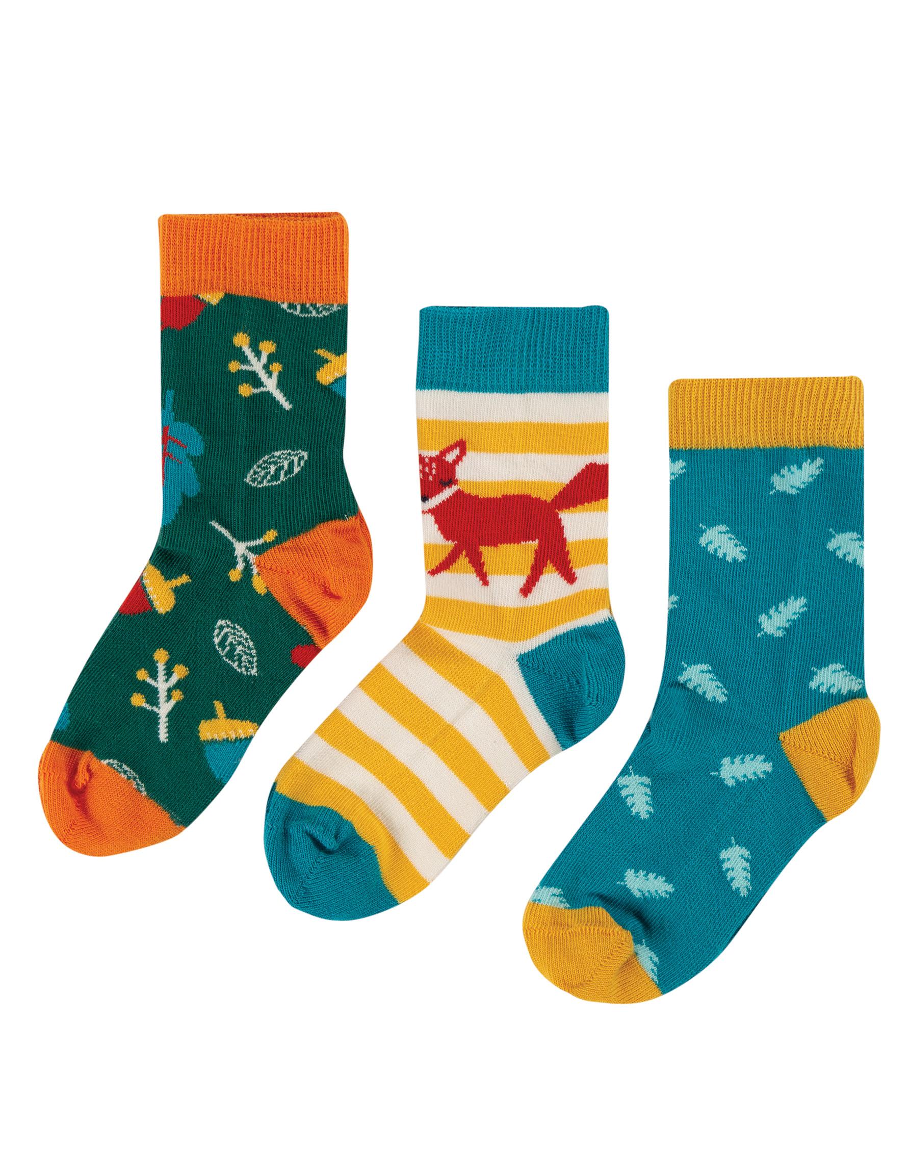Frugi Rock My Socks, 3 Pack